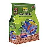 TetraPond Pond Sticks, Pond Fish Food, for Goldfish and Koi