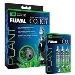 VASCA Hagen Fluval Pressurized CO2 Kit w/ 3 Replacement Cartridge Bundle (45g)