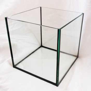 Deep Blue Professional ADB11443 Rimless Cube Aquarium Glass Tank, 12 by 12 by 12-Inch