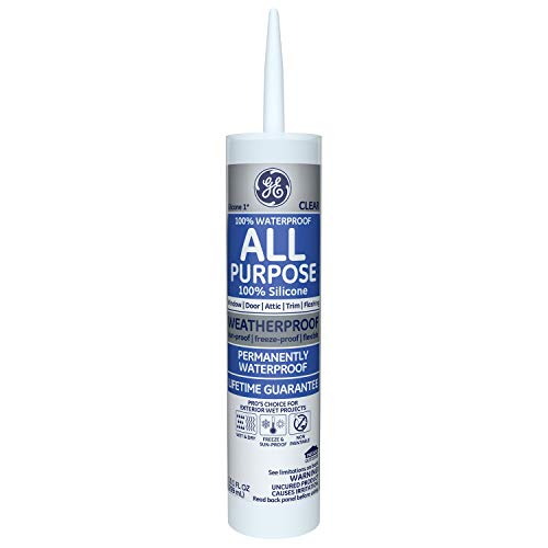 GE Silicone GE012 10.1 Oz Clear Window & Door Silicone Rubber Caulk (2 Pack)