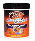 Omega One Freeze Dried Blood Worms, 0.46 oz
