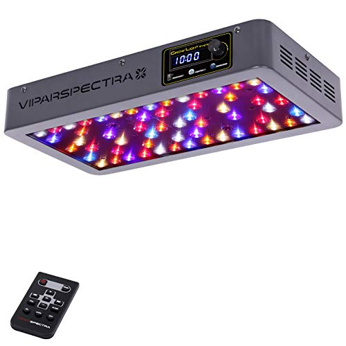 VIPARSPECTRA Timer Control VT300 300W LED Grow Light, Dimmable Veg/Bloom Channels 12-Band Full Spectrum Plant Grow Lights for Indoor Plants