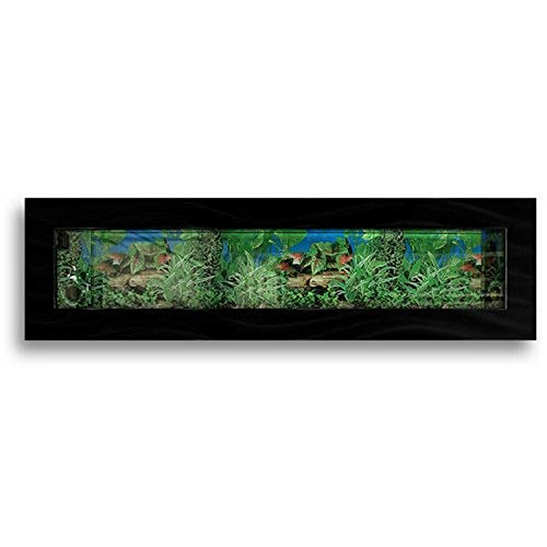 Aussie Aquariums Wall Mounted Aquarium - Panoramic Black