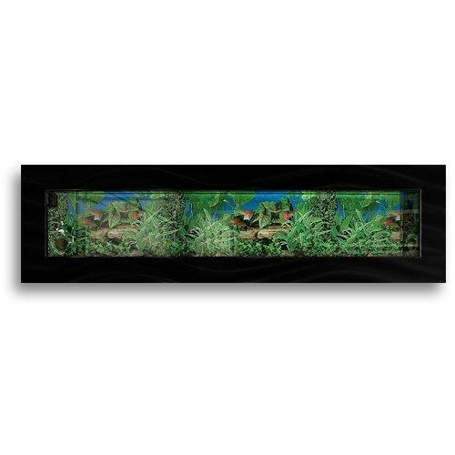 Aussie Aquariums Wall Mounted Aquarium - Panoramic Black