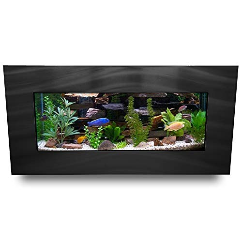 Aussie Aquariums AA-Skyline-BBLACK 2.0 Wall Mounted Aquarium, Brushed Black