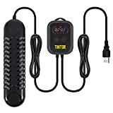 Submersible Aquarium Heater, 800W/1200W fish tank heater, double tube heating, rapid heating and energy saving, LED digital temperature controller, suitable for sea water and fresh water(1200W)