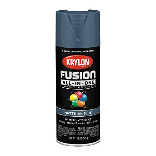 Krylon K02758007 Fusion All-In-One spray-paints, Ink Blue