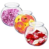 Srenta 16oz Plastic Ivy Bowls   Perfect for Home Decor, Goldfish Game, Event Supplies. Pack of 3 Transparent Vase
