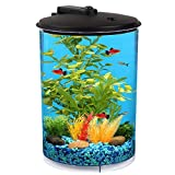 Koller Products AquaView 3-Gallon 360 Aquarium with LED Lighting (7 Color Choices) and Power Filter