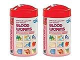 Hikari Bio-Pure Freeze Dried Blood Worms for Pets, 0.42 oz(12 g) - 2 Pack