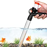 Aquarium Gravel Cleaner Fish Tank Kit Long Nozzle Water Changer for Water Changing and Filter Gravel Cleaning with Air-Pressing Button and Adjustable Water Flow Controller- BPA Free