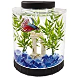 Tetra LED Half Moon aquarium Kit 1.1 Gallons, Ideal For Bettas