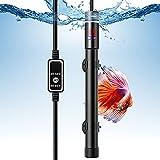 VIVOSUN 500W Aquarium Heater Submersible Titanium Fish Tank Heaters with Intelligent LED Temperature Display and External Temperature Controller