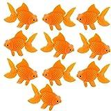 XMHF Aquarium Fish Bowl Tank Artificial Floating Plastic Orange Decor Goldfish Ornament Fish Tank Decoration 10PCS