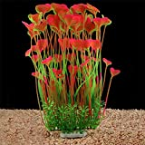 QUMY Large Aquarium Plants Artificial Plastic Fish Tank Plants Decoration Ornament Safe for All Fish 15.7 inch Tall 7.09 inch Wide