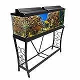 Aquatic Fundamentals 55 Gallon Metal Aquarium Stand, Black