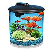 Koller Products AquaView 2-Gallon 360 Fish Tank with Power Filter and LED Lighting - AQ360-24C