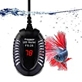 FREESEA 50W Mini Aquarium Heater Fish Tank Submersible Heater with LED Temperature Display