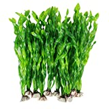 MyLifeUNIT Artificial Seaweed Water Plants for Aquarium, Plastic Fish Tank Plant Decorations 10 PCS (Green)