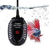 FREESEA 50 Watt Small Aquarium Betta Submersible Heater with LED Temperature Display