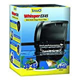 Tetra Whisper EX 45 Filter For 30 To 45 Gallon aquariums, Silent Multi-Stage Filtration, Blacks/Grays