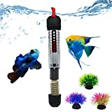 Bnzaq Fish Tank Aquarium Heater - Adjustable Temperature Submersible Thermostat Heater,25W/50W/100W/150W/200W/300W