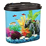 Koller Products AquaView 4.5-Gallon Fish Tank - Power Filter - LED Lighting
