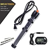 Orlushy Submersible Aquarium Heater 300W-Fish Tahk Heater with Adjust Knob Thermostat 2 Suction Cups Suitable for Marine Reef Fish Tank Sump