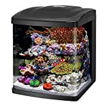Coralife Fish Tank LED BioCube Aquarium Starter Kits, Size 16, Black (100530106)